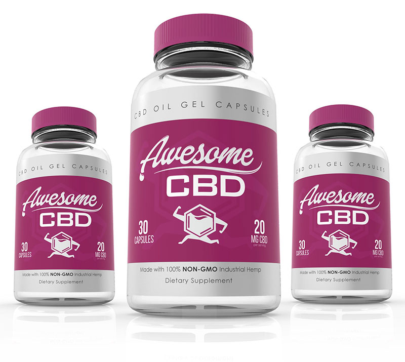 awesome cbd gel capsules 20 mg