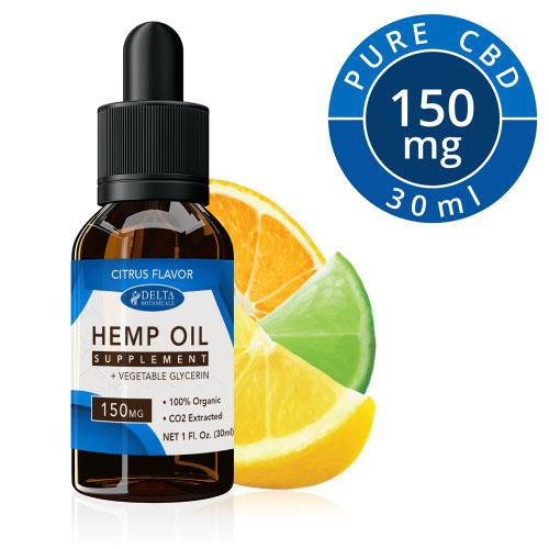 delta botanicals CBD hemp oil 150mg