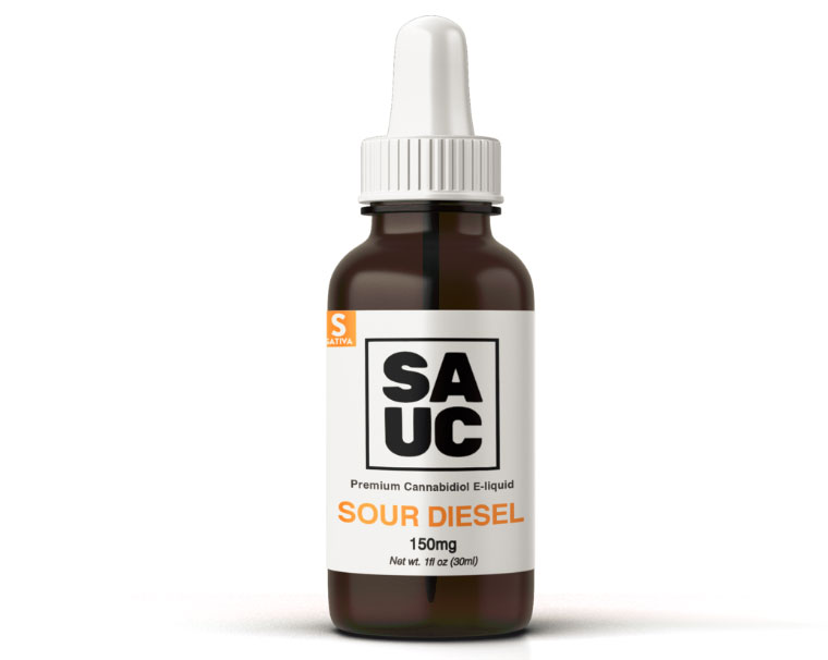 sauc 150mg sour diesel cannabidiol e-liquid