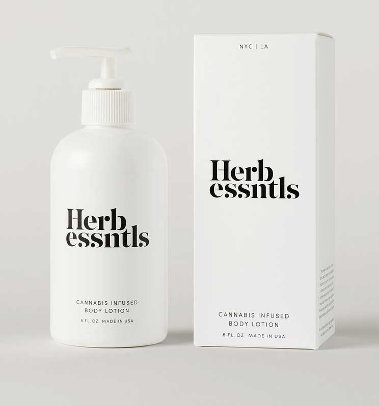 herb essntls cannabis body lotion
