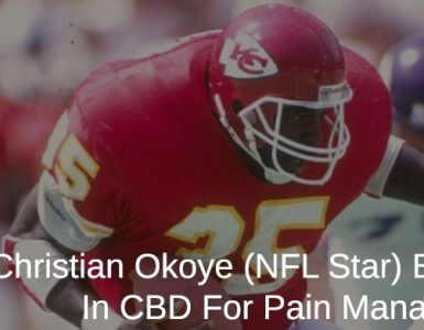 Christian Okoye playing football