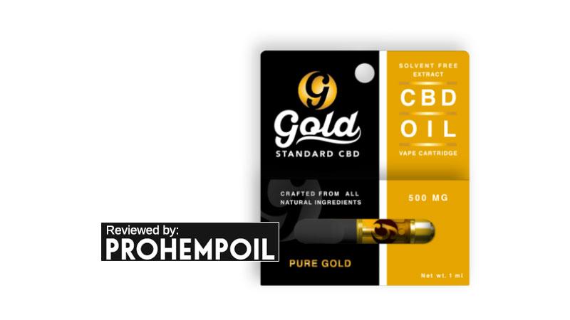 Gold CBD Standard 500mg Vape Cartridge