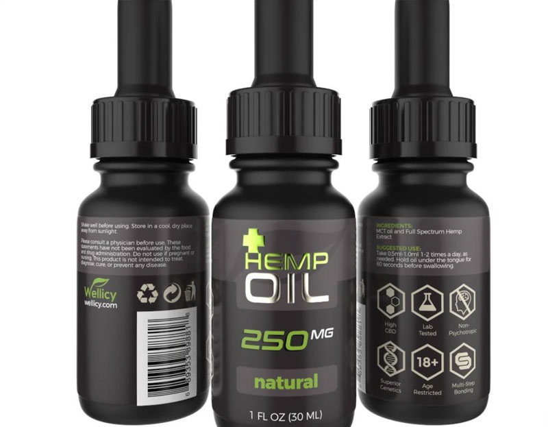 250mg natural hemp oil